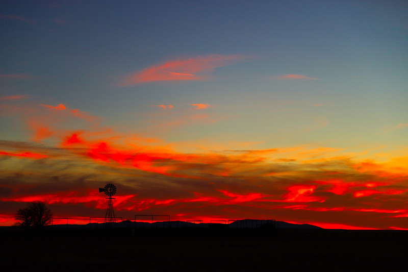 Christmas Day Sunset in Encino, NM