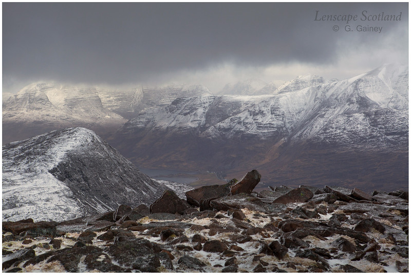 Beinn Alligin & Beinn na-h-Eaglaise from Maol Chean-dearg