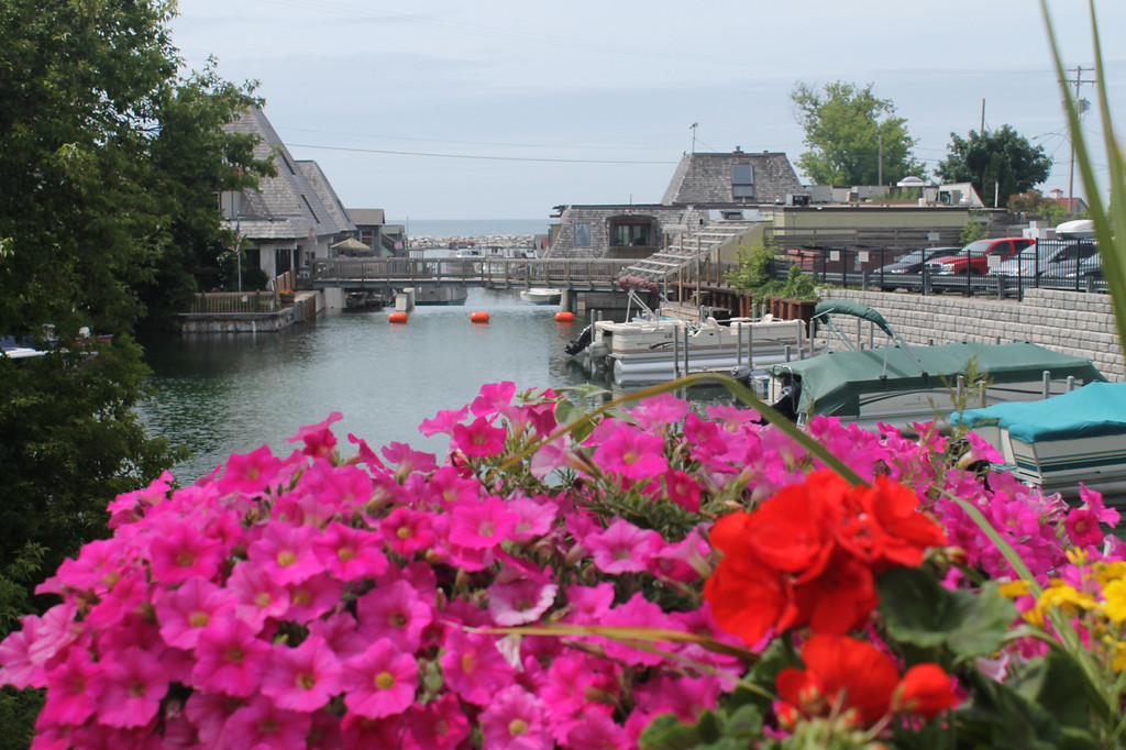 . Leland, set on the Lake Michigan shore in Leelanau County, is a not-to-be-missed travel destination. Shown is a bridge over the Leland River looking out to Lake Michigan.  Photos by Kristine Morris
