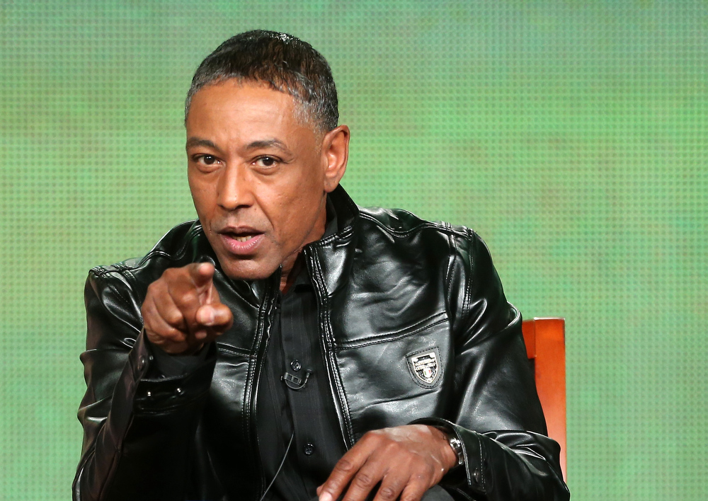 Description of . Actor Giancarlo Esposit speaks onstage at the