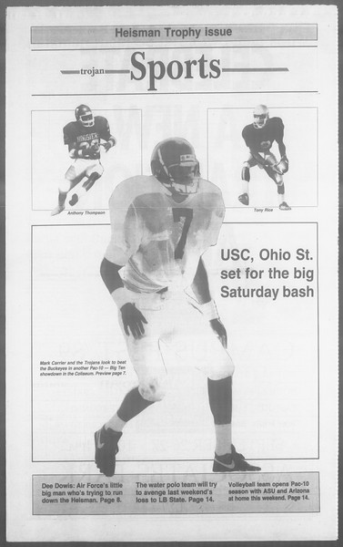 Daily Trojan, Vol. 110, No. 14, September 22, 1989