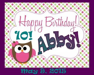 Abby's 10th Birthday