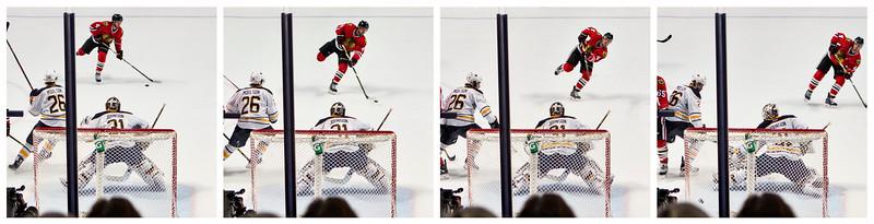 Hjalmarsson shots a goal sequence.
