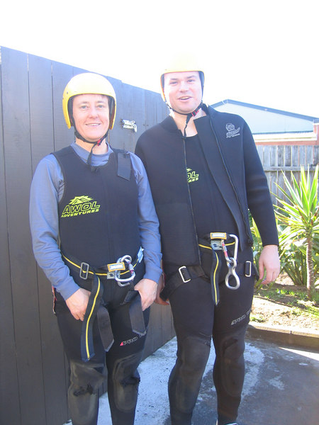 Canyoning in Piha Canyon