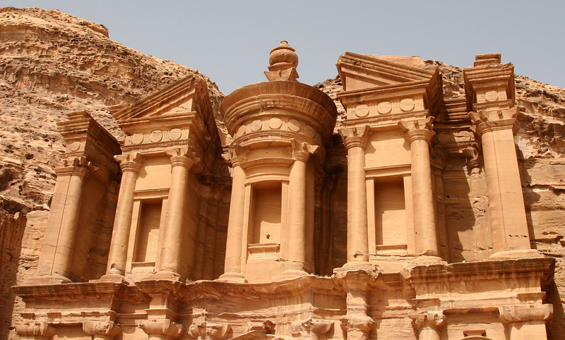 Petra - The upper portion of the Monastery.
