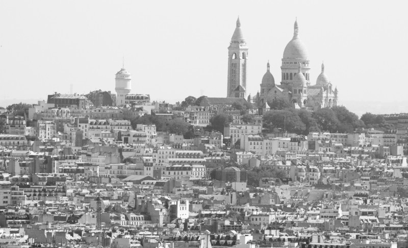Sacre Coeur from the Eiffel Tower