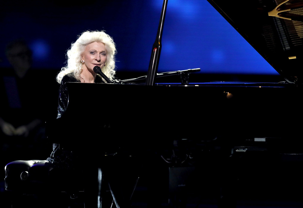. Judy Collins performs at the 59th annual Grammy Awards on Sunday, Feb. 12, 2017, in Los Angeles. (Photo by Matt Sayles/Invision/AP)