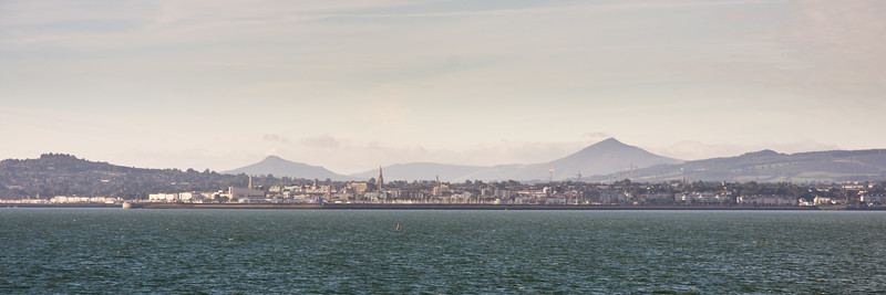 Dun Laoghaire and the Wicklow Mountains