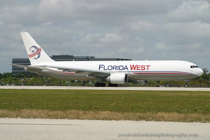 N316LA. Boeing 767-316F/ER. Florida West. Miami. 030304.