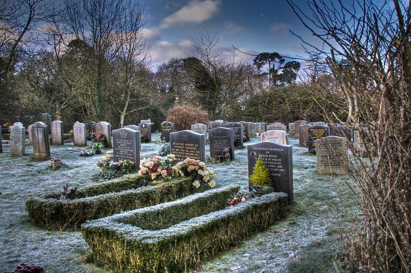 Graveyard at St John the Baptist Church, North Baddesley, Hampshire
