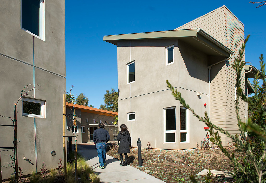 . Los Angeles County is leasing this newly-constructed South Whittier apartment complex on Coteau Drive to the United Friends of the Children for $1 a year Feb. 20, 2013.  It will be transitional housing for 18-year-olds leaving the foster-care system.  (SGVN/Staff photo by Leo Jarzomb)