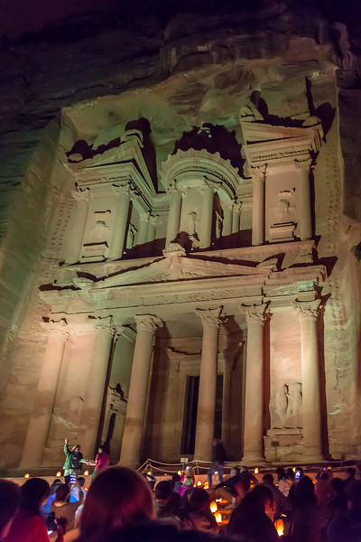 Seeing Petra at night is a must addition to your boomer travel bucket list.