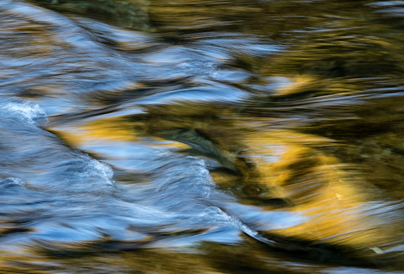 Fast moving water