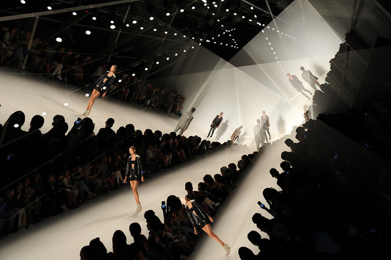 . Models walk the runway at Custo Barcelona show during Mercedes-Benz Fashion Week Spring 2015 on September 7, 2014 in New York City.  (Photo by Bryan Bedder/Getty Images for Mercedes-Benz Fashion Week)
