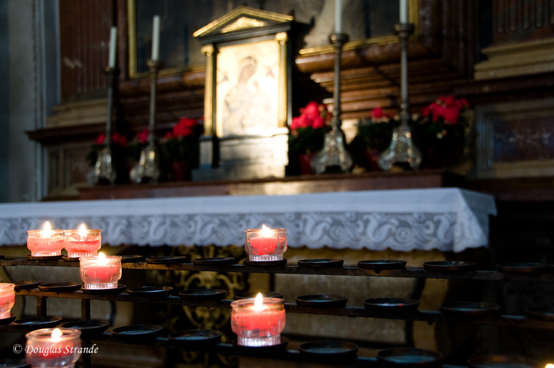 Candles in a Salzburg church