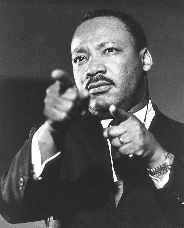 . Dr. Martin Luther King Jr., speaking in 1968. (AP Photo)