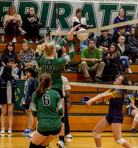 Game one into Game two, Set four: Vashon Island High School Varsity Volleyball v Annie Wright 09/26/2018