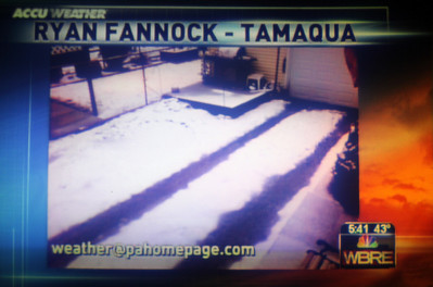 Ryan Fannock snow photo on WBRE, Tamaqua (3-21-2011)