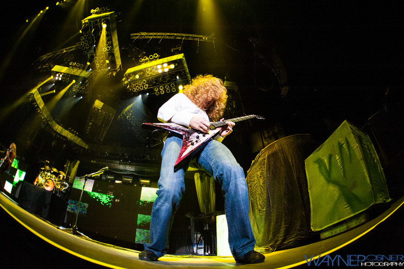 Dave Mustaine with Megadeth at Mandalay Bay