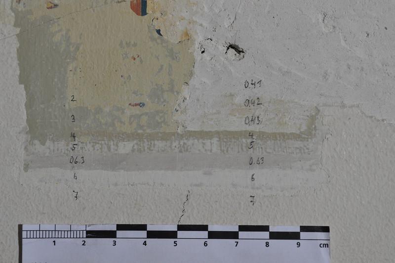 Farbschichtfolge (muss noch geändert werden, Bleistiftangaben stimmen nicht mehr) DSC_0051