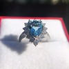 3.30ctw Aquamarine and Diamond Cluster Ring 21