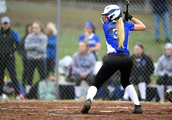 4/9/2019 Mike Orazzi   Staff Southington's Kristin Rose (3) during Tuesday's softball game in Bristol.