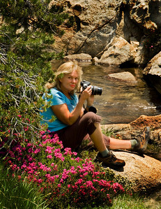 "Margie on location in the Ansel Adams Wilderness near Lady Lake , Ca<br />  <a href=""http://www.buyuniqueimages.com"">http://www.buyuniqueimages.com</a>"