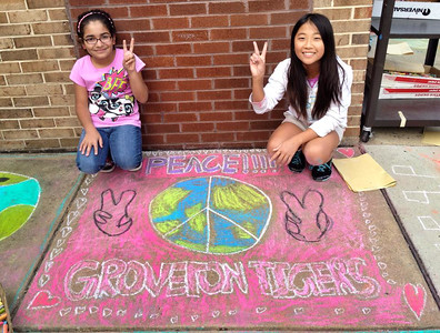 CHALK4PEACE '14 Groveton E.S.- 7th Year!
