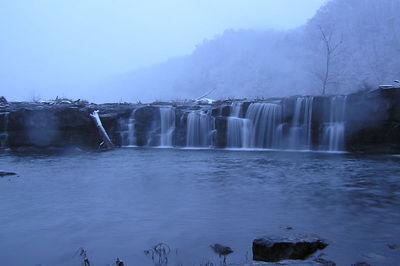 Sandstone Falls in Snow, Sandstone, WV