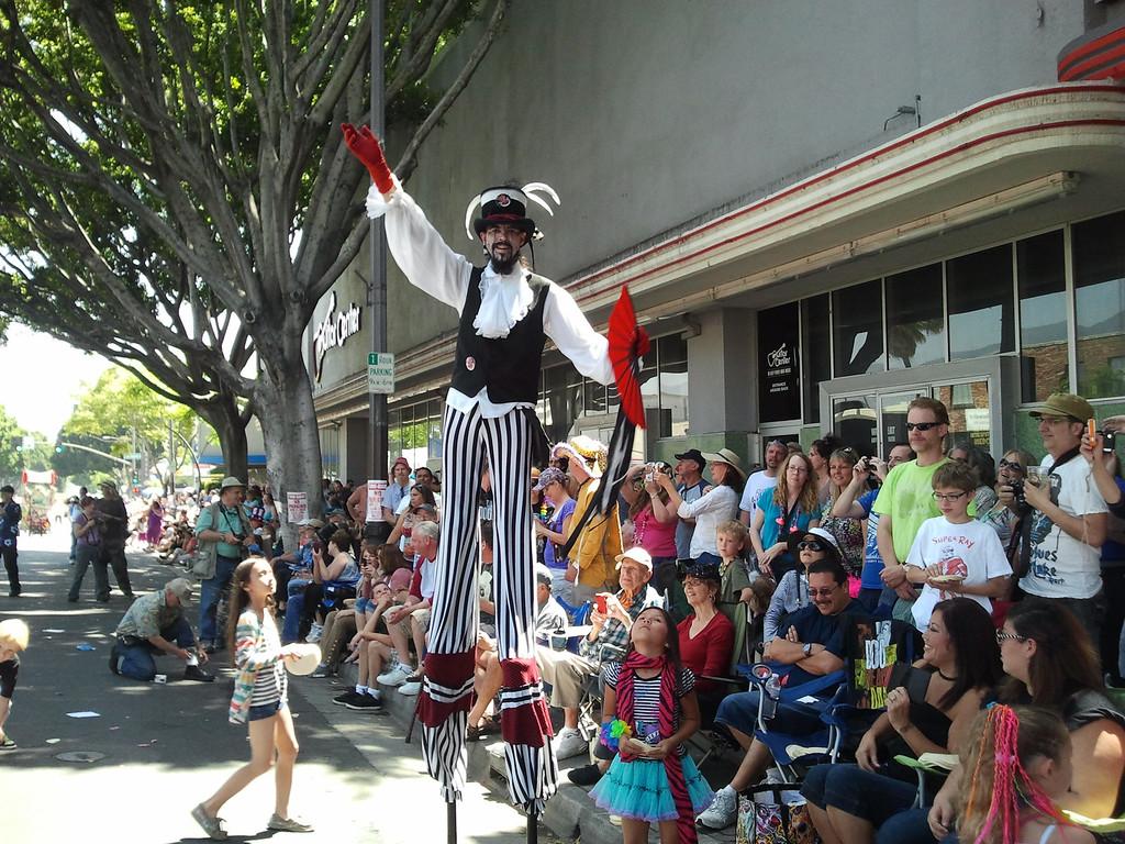 . Participants of the 2013 Pasadena Doo Dah Parade in Pasadena, Calif., Saturday, April 27, 2013. Parade goers threw tortillas and silly string at participants of the parade on E. Colorado Boulevard (SGVN/Staff photo by Brian Day)