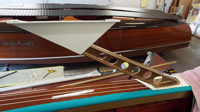 Starboard upholstery and support installed.