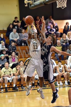 Berks Catholic vs Wyomissing Boys High School Basketball 2015 -2016