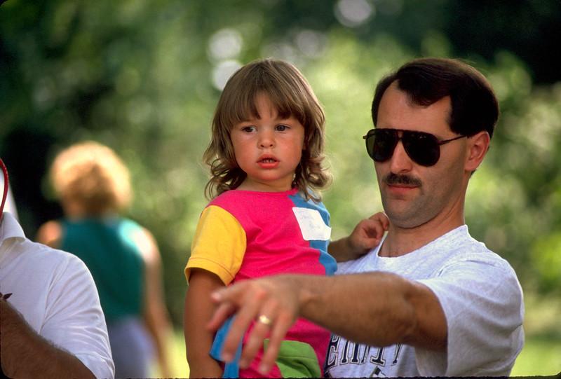 David Parrish and daughter