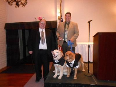 2012-11-19 K-9 Tim Engel Barnabas and Prince get award Portage IN