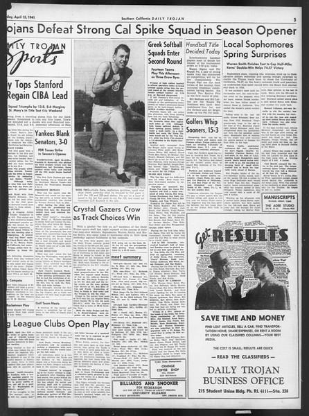 Daily Trojan, Vol. 32, No. 121, April 15, 1941