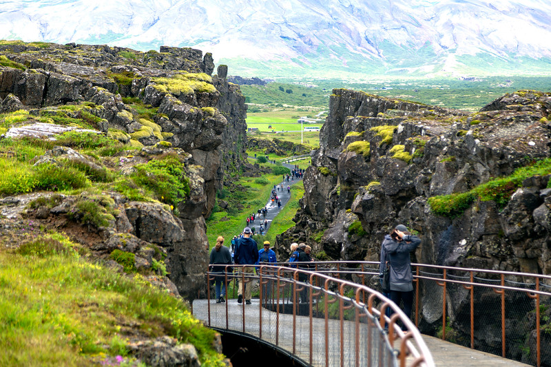 ... the North American tectonic plate runs off to the right.  This is Thingvellir Park