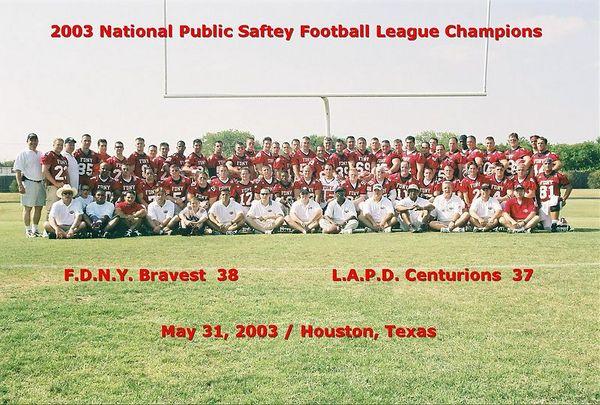 2003 FDNY Wins the 2003 NPSFL Championship