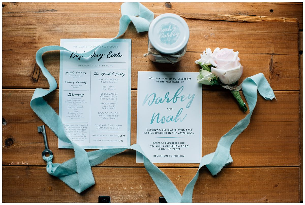 teal and blush wedding