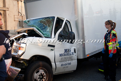 West Babylon F.D. Truck vs Tractor Trailer MVA N Queens Ave South of Sunrise Hwy 6-18-13