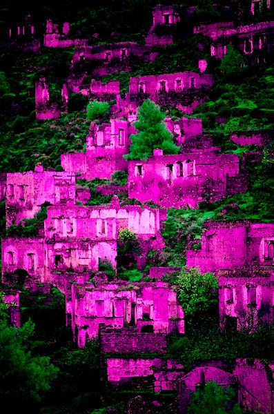 Ghost town of Kayaköy (Levissi), Fethiye, Turkey