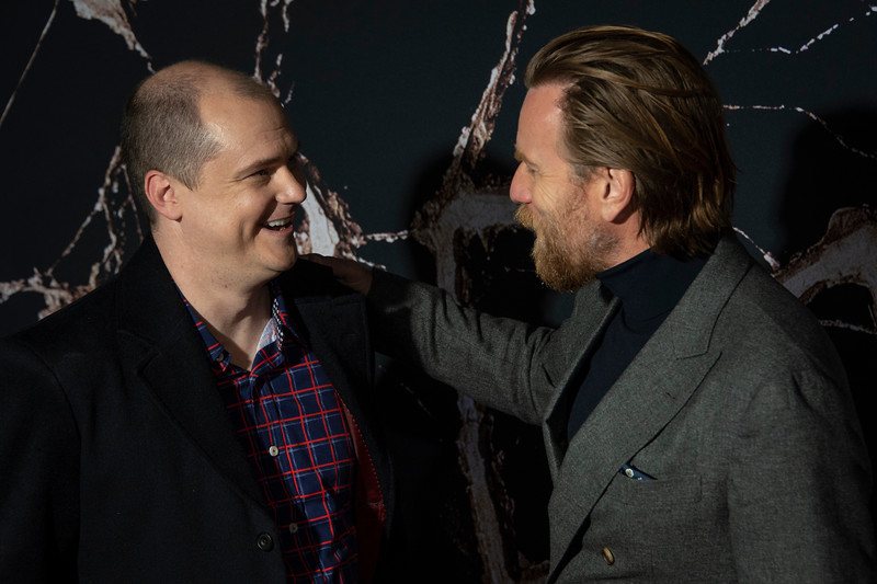 "LOS ANGELES, CALIFORNIA - OCTOBER 29: Mike Flanagan and Ewan McGregor attend the premiere of Warner Bros Pictures' ""Doctor Sleep"" at Westwood Regency Theater on Tuesday October 29, 2019 in Los Angeles, California. (Photo by Tom Sorensen/Moovieboy Pictures,)"