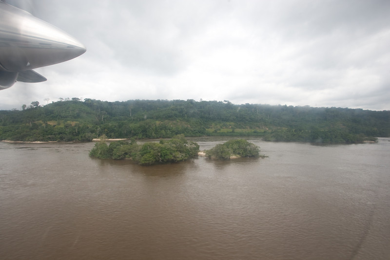Low flying in the Dornier over the Ogooue River.
