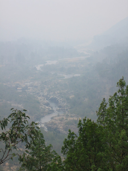 Jan 07 - Smoke in the valley of the Snowy  River