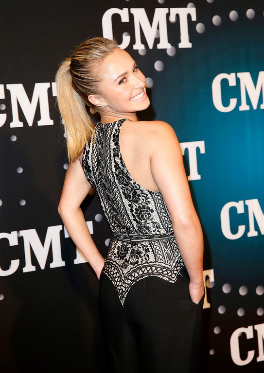". Hayden Panettiere, of ABC\'s ""Nashville,\"" poses on the red carpet at the CMT \""Artists of the Year\"" at Bridgestone Arena, on Tuesday, Dec. 3, 2013, in Nashville, Tenn. (Photo by Donn Jones/Invision/AP)"
