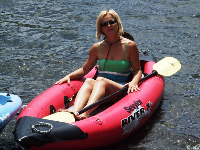 Enjoying kayaking on Silver Lake (2.199m or 7,215ft)