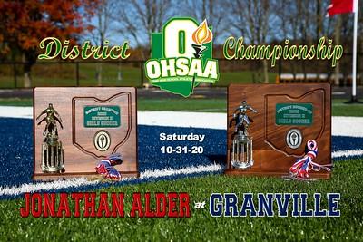 2020 OHSAA Jonathan Alder at Granville (10-31-20)