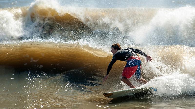 Surfing Folly Beach October 9-10, 2013 at 1670 E Public Access