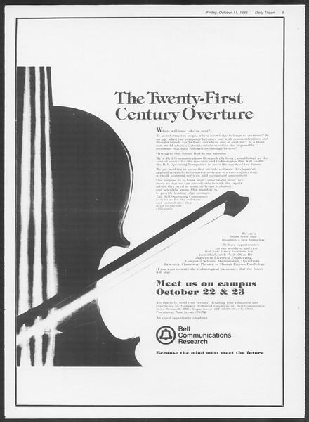 Daily Trojan, Vol. 100, No. 29, October 11, 1985