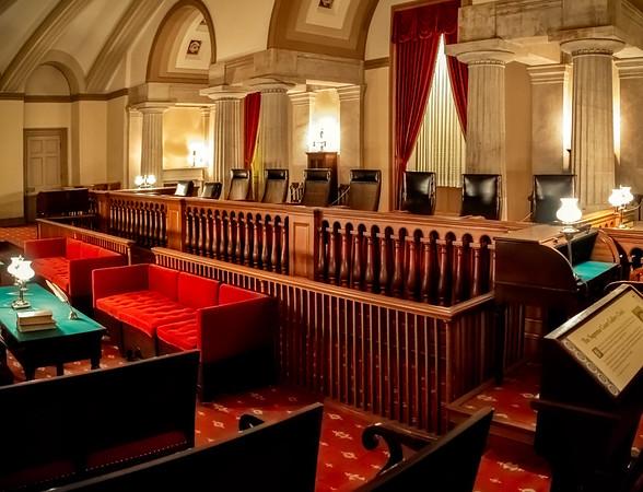 Original Supreme Court Gallery, US Capitol Building