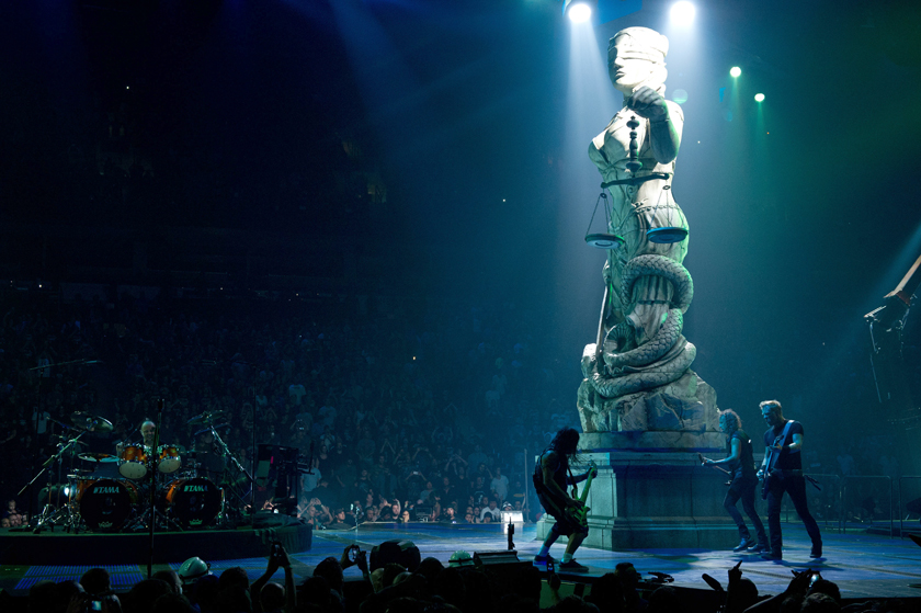 . Metallica honors a goddess statue on stage in �Metallica: Through the Never.�